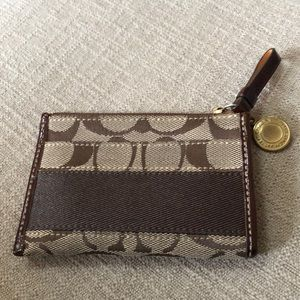 Zippered authentic coach credit card